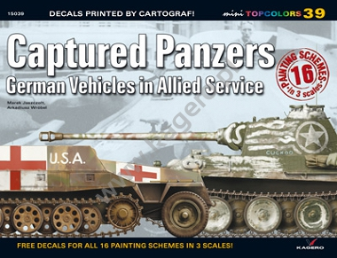 Captured Panzers German Vehicles in Allied Service (kalkomania)
